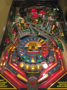 This machine had a beautiful clearcoated playfield installed for a better-than-factory look.
