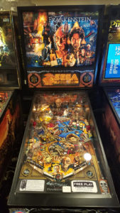 Frankenstein features an extra large dot matrix display which only used a very few Sega pinball machines.