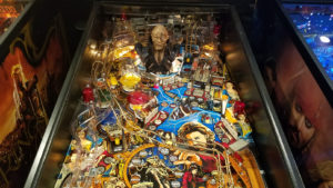 This machine has a beautiful playfield.  Every piece was removed and either cleaned thoroughly or replaced with new parts.