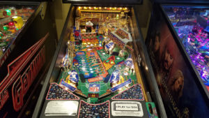 You're not likely to find another NFL pinball machine as clean as this one.