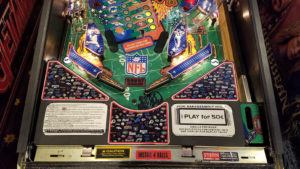 Everything was taken off the playfield and cleaned while the playfield itself was clear coated.