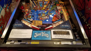 Our restoration at New York Pinball includes cleaning and re-decaling areas you may not see very often - such as under the lockdown bar.