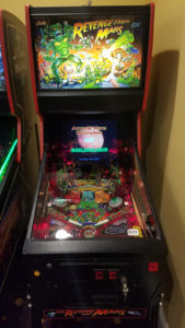 The Pinball 2000 machines  have unique cabinets that house CRT video monitors in them that reflect off the playfield.