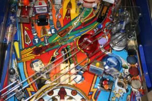 All of the original playfield parts on this machine were in great shape, in this case I was lucky to start out with a fairly low mileage example.